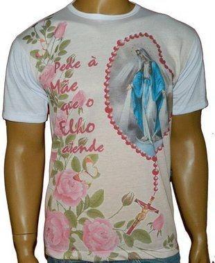 Camiseta Nossa Senhora das Graças, Terço