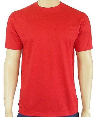 Camiseta Vermelha Básica Lisa.