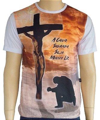 Camiseta Cruz Sagrada minha Luz