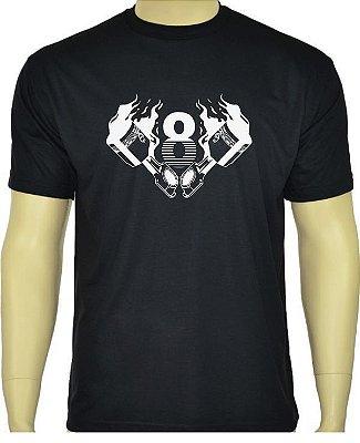 Camiseta V8 Preta.