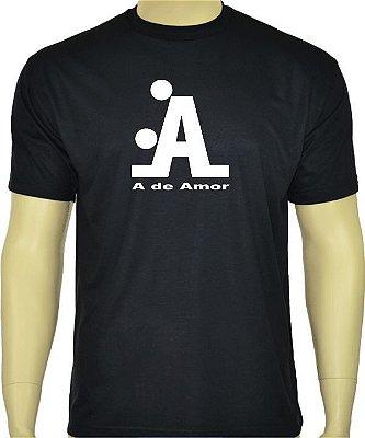 Camiseta Divertida A de Amor