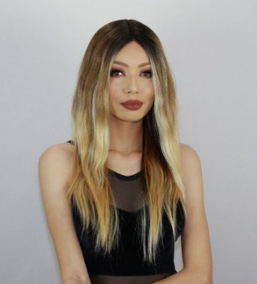 LANÇAMENTO - Peruca lace front wig ondulada AVA