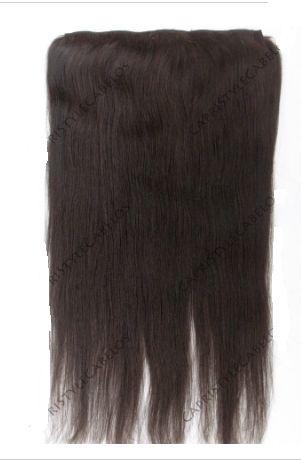 Aplique tic tac cabelo humano - castanho escuro - Liso - 3 telas - 50 ou 60cm -120gramas