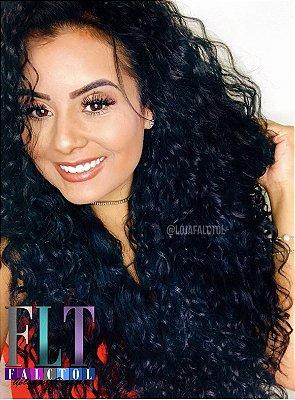 Peruca Lace front wig  cacheada kitron preta 70cm - ENCOMENDA