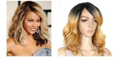 Lace Front wig Beyoncé inspiration- modelo 3 -  inspiration chanel com cachos e franja - Encomenda