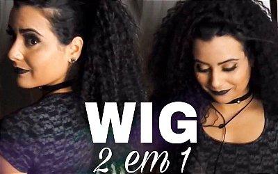 Peruca wig Half 2 em 1 - Cacheado 3 C- 4A - Varias Cores - Encomenda