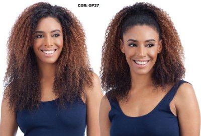 CAROLINA FALCÃO - Wig Half 2 em 1 - Cacheado 3 C- 4A - Varias Cores - Encomenda