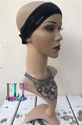 Acessorio para wig Hair Grip  faixa fixadora ajuda a fixar wig , bandana e lenços - Preto - ENCOMENDA