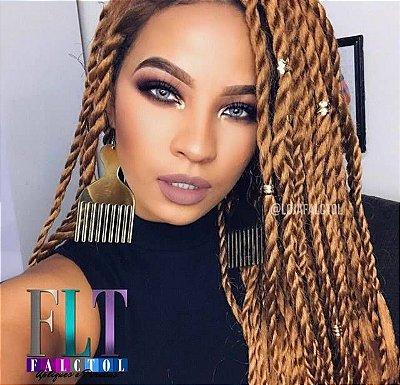 Peruca  Lace front wig com twist fino - 60cm repartição livre - ENCOMENDA