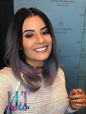 Peruca Wig com repartição chanel - Ombré hair lilás PRINCESS - ENCOMENDA