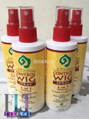 Wig control spray  para Perucas / Apliques/  Humanos e Sintéticos - 118ml  - PRONTA ENTRGA