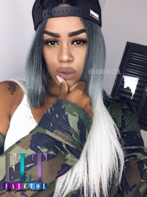 Peruca lace front wig  Ombre hair - Yauni - 55cm