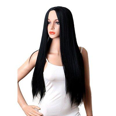 Wig peruca sintética  65cm  - Preto -  MARY - Encomenda
