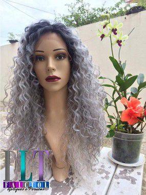Lace Front wig - Cacheada textura 4A 4B - 70cm - Repartição livre - varias cores - Encomenda