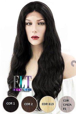 Lace Front cabelo 100% humano ondulado - 60cm - Repartição livre - ENCOMENDA