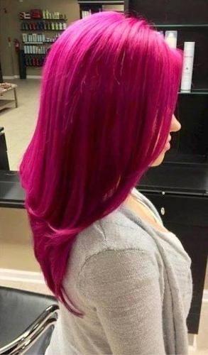 Aplique de tic tac cabelo sintetico -  Rosa  Sakura Liso - 80gramas - 60cm - Sem tela