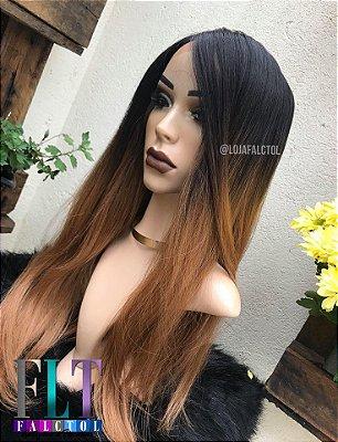 Peruca lace front wig lisa repartição livre 13X4  BSF11 Ombre hair mel   - PRONTA ENTREGA