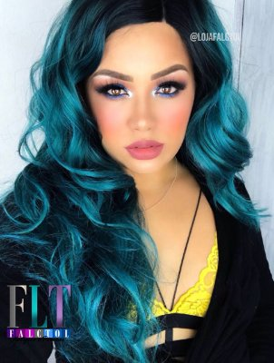 Lace front wig cacheada - Jennie varias cores - ENCOMENDA
