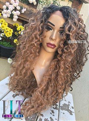 Peruca Lace front wig cacheada Major 15cm de repatição - ENCOMENDA