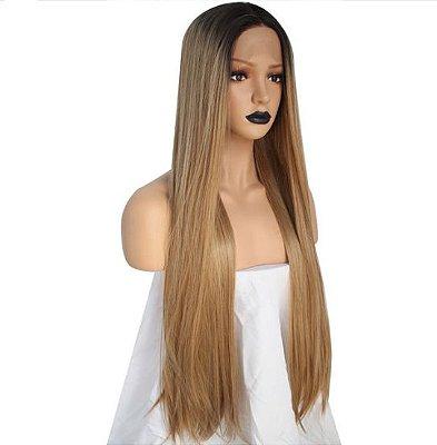 Lace Front wig Ombre hair mel Repartição livre - Encomenda