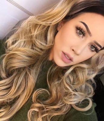 Peruca lace front wig ondulada  - ÁGATA -  Loiro mechado 60cm - PRONTA ENTREGA