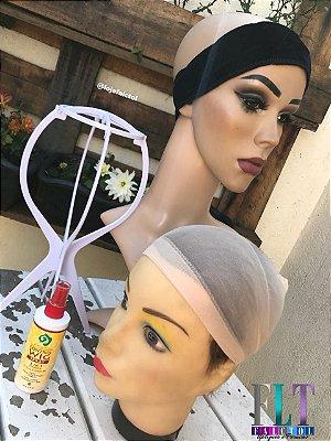 Kit acessórios para peruca lace front wig