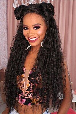 Peruca lace front wig cacheada 85cm com repartição em T - PENELOPY  - PRONTA ENTREGA