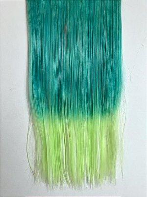 Aplique tic tac liso ombre hair verde - DEFEITO 1 TIC TAC QUEBRADO
