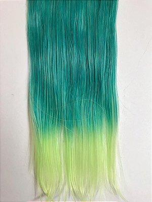 Aplique tic tac ombre hair verde - DEFEITO TELA MAL COSTURADA
