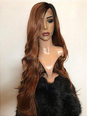 Peruca lace front wig ondulada 80cm Kellya - RUIVA- PRONTA ENTREGA