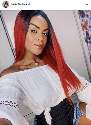 Peruca lace front wig Yani - Lisa vermelho 55cm