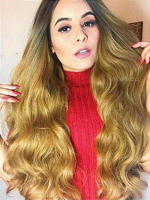 Peruca lace front wig cacheada 75cm repartição livre - Lya  - Repartição livre