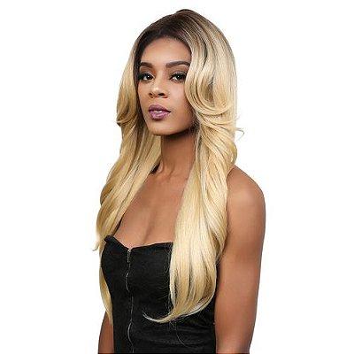 Peruca lace front wig repicada loira com franja ANGIE - PRONTA ENTREGA