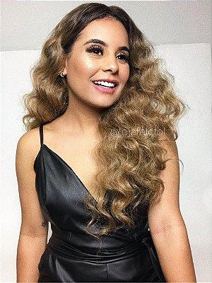 REPOSIÇÃO - Peruca lace front wig Ondulada - GABRIELA - PRONTA ENTREGA