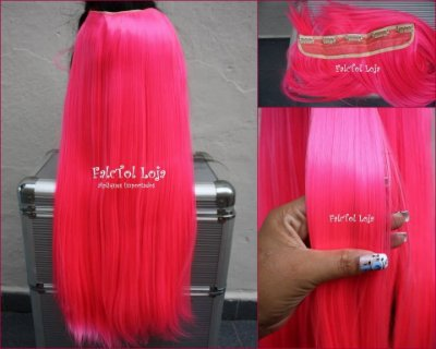 Aplique de tic tac sintetico liso rosa pink 60cm