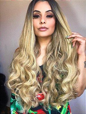 LANÇAMENTO -  Peruca lace front wig - MIRELA cacheada - 75cm - PRONTA ENTREGA
