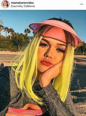 EDIÇÃO LIMITADA - Peruca lace front wig chanel Lolla verde neon MAMA BENEVIDES