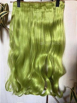 Aplique tic tac verde pistache com cachos 60cm