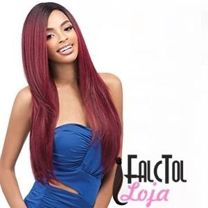 Outre Synthetic Wig Quick Weave - ECO WIG Natural YAKI 24 (futura) - Vermelha- ENCOMENDA