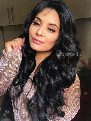 ULTIMA PEÇA - Peruca lace front wig cacheada ( Tela cortada ) - Flawless