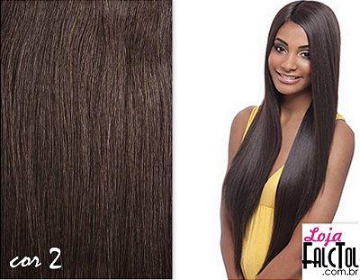 Peruca - Lace front Wig Deep Invisible part Davisa - Castanho escuro 2 -ENCOMENDA