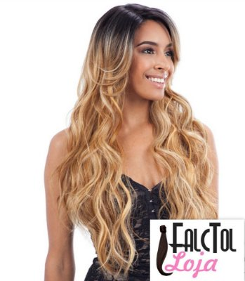 DEEP INVISIBLE L-PART LACE WIG - Suzie - Loiro mechado - ENCOMENDA