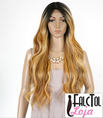 Lace front Invisible part Deep Suzie- Loiro mechado- ENCOMENDA