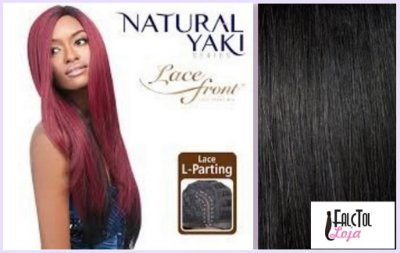 Lace front Outre Synthetic L-Part YAKI 24- 1b Preto - Encomenda