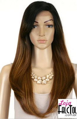 Model Model Synthetic Hair Lace Deep Invisible L Part Lace Front Wig - DAIJA- ombrê -ENCOMENDA