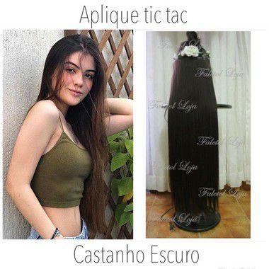Aplique de tic tac - Castanho Escuro  liso - 80 cm