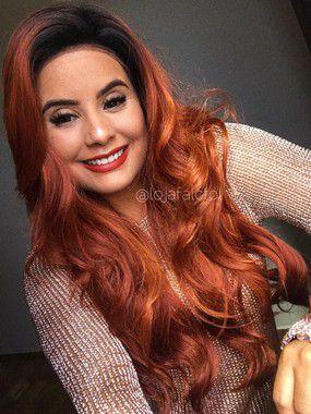 Peruca lace front wig cacheada Lucia - Varias cores