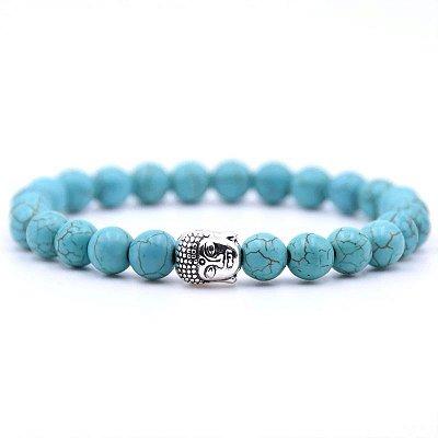 Pulseira Buda Jade Azul (Pedra Natural)