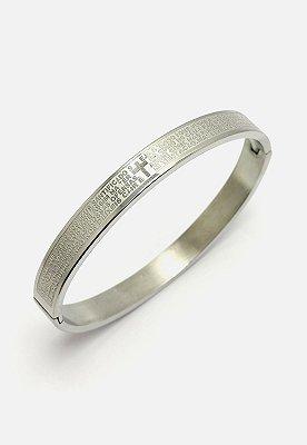 Pulseira Kodo Acessórios Bracelete Pai nosso Prata