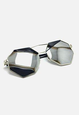 Óculos de Sol Vintage Hexagonal